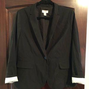 Black Jacket with Polkadot Lining
